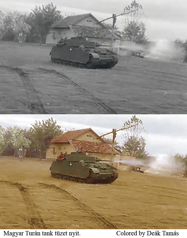 Turan tank fire.