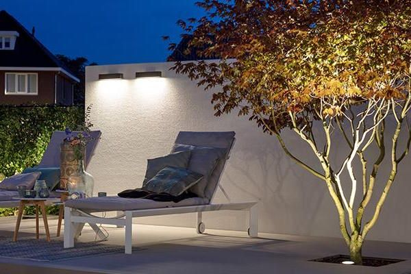 Evo Down Dark Led Garden Lights Outdoor Decor 400 x 300