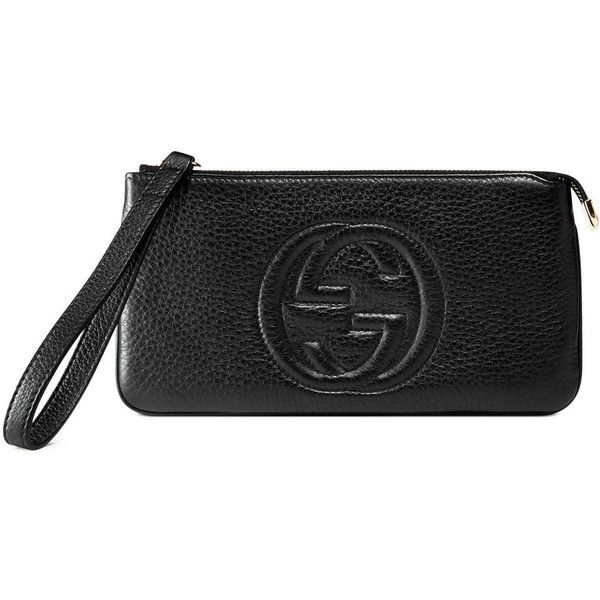 389590a1a05 Gucci Soho Leather Wrist Wallet ( 380) ❤ liked on Polyvore featuring bags