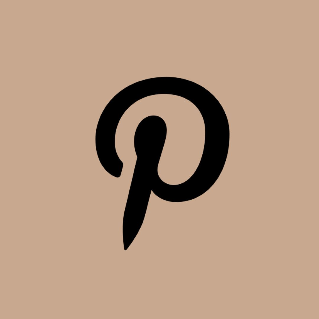 Pinterest Icon Beige In 2020 Aesthetic Wallpapers Icon Celestial