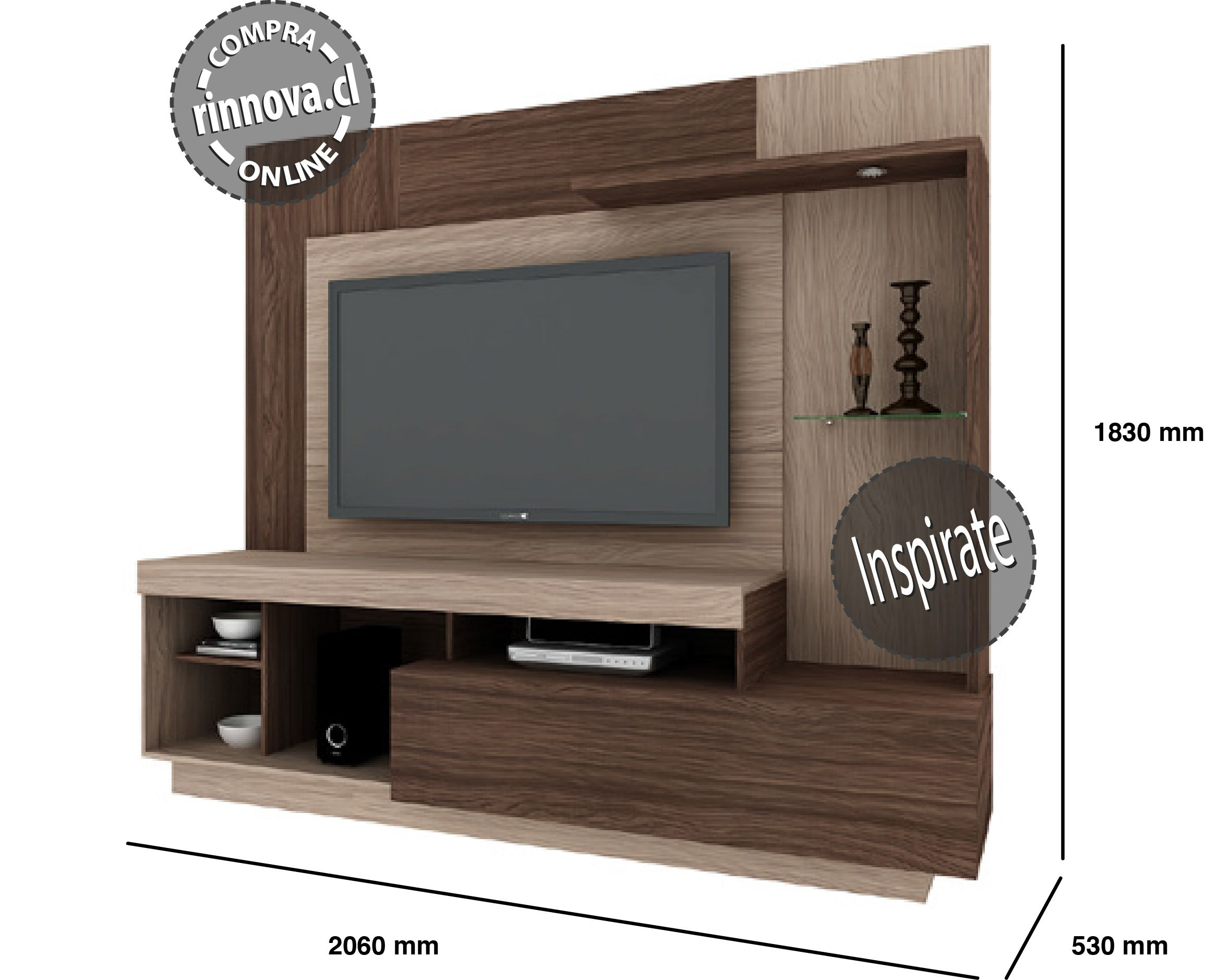 Www Rinnova Cl Mueble Led Tv Rinnova Pinterest Cl Tv Walls  # Muebles Fiasini