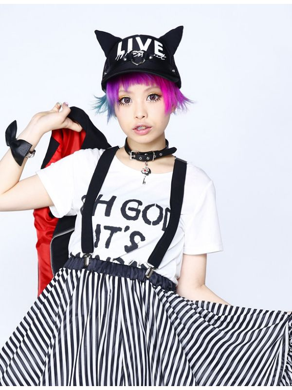 japanesefashioninferno: New HELLCAT PUNKS items from KERA Shop(Model: Haruka Kurebayashi)