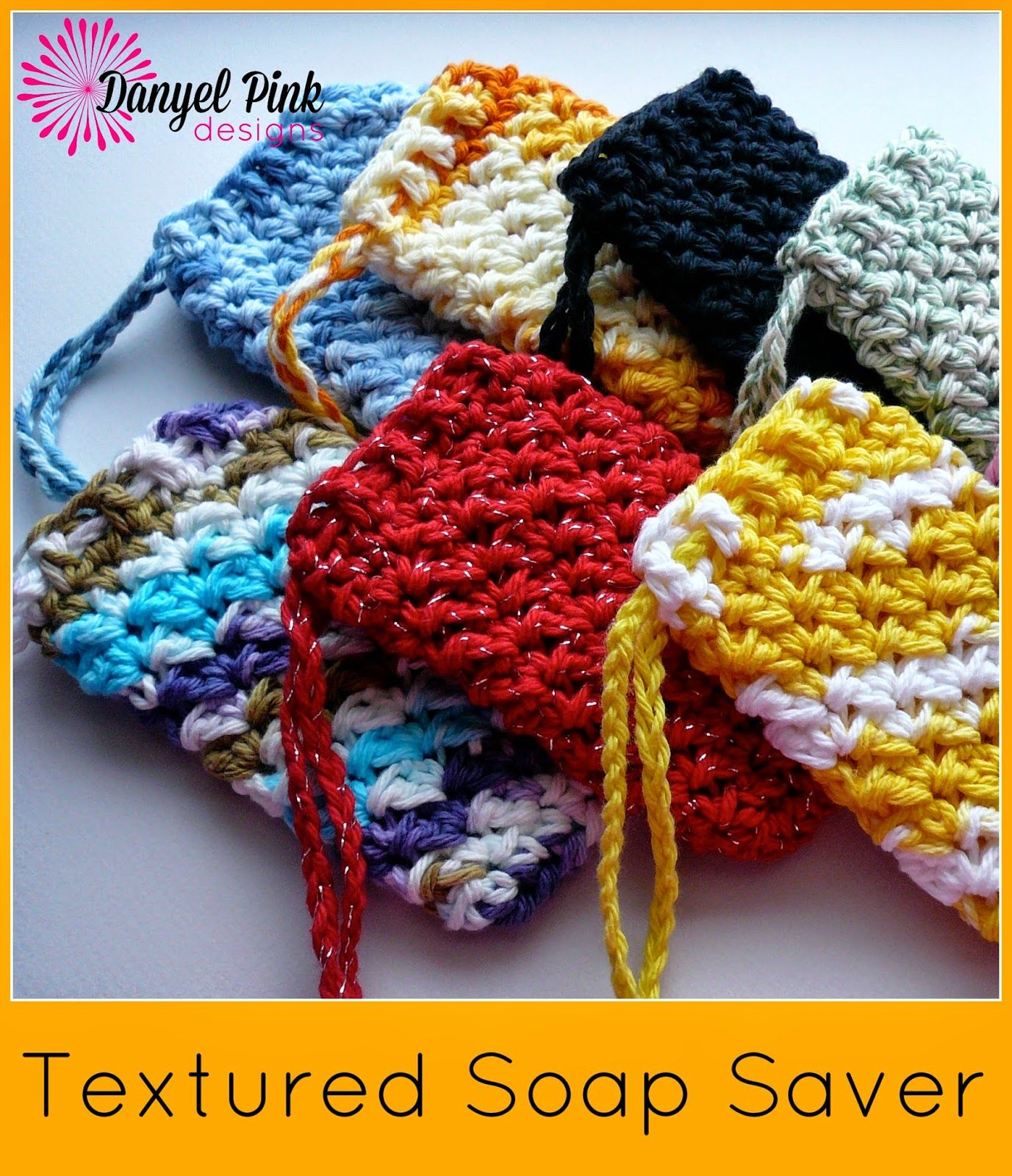 Danyel Pink Designs: free crochet pattern: Textured Soap Saver ...