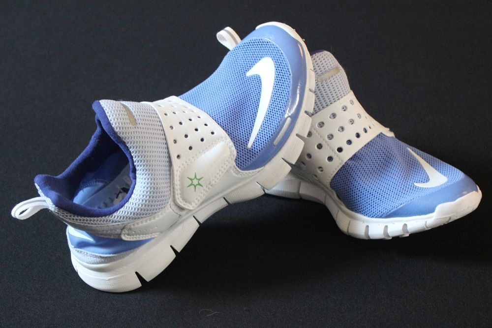 7c4c65f43fb ... sale nike free running shoes 4.0 jana blue white athletic mesh size 6 m  slip on