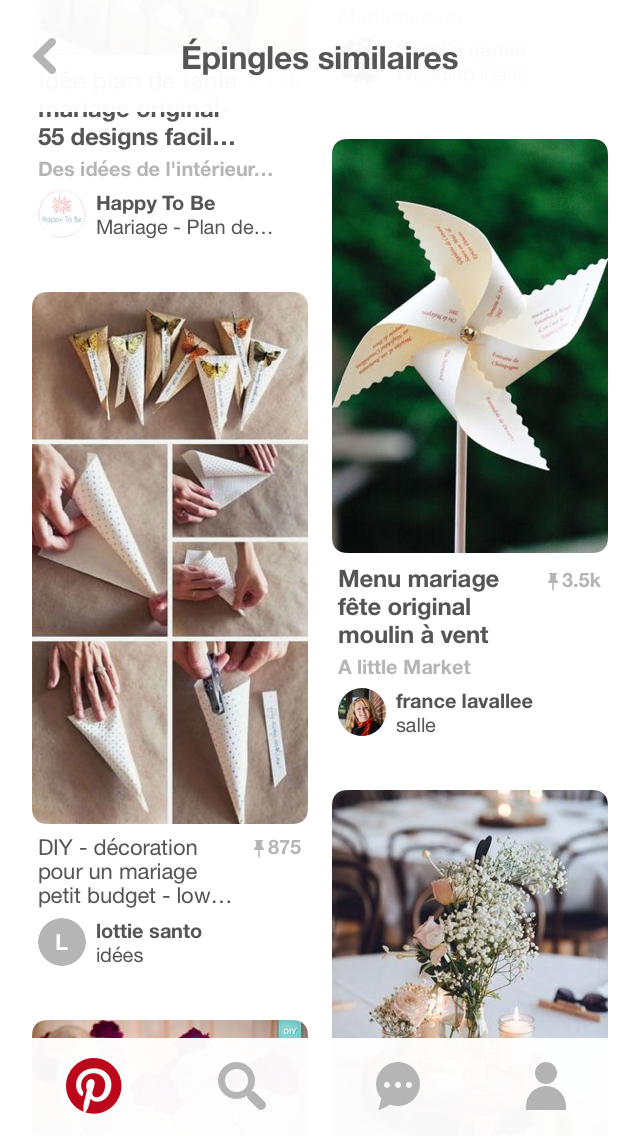 Image Mariage petit budget de mathilde vercollier du tableau Deco mariage | Menu mariage, Deco ...