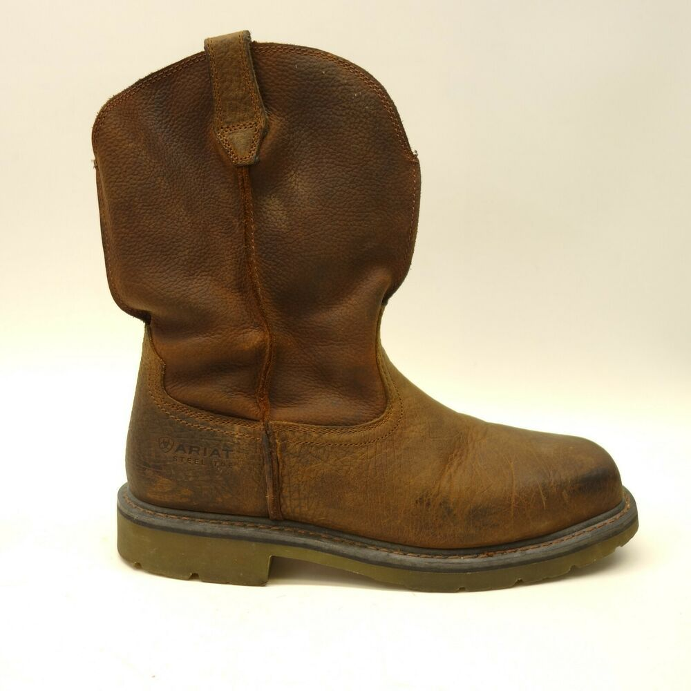 Ariat Us 11 Ee Wide Eu 44 5 Mens Brown Rambler Work Pull On Western Cowboy Boots Ariat Cowboywestern Boots Western Cowboy Boots Boots Men