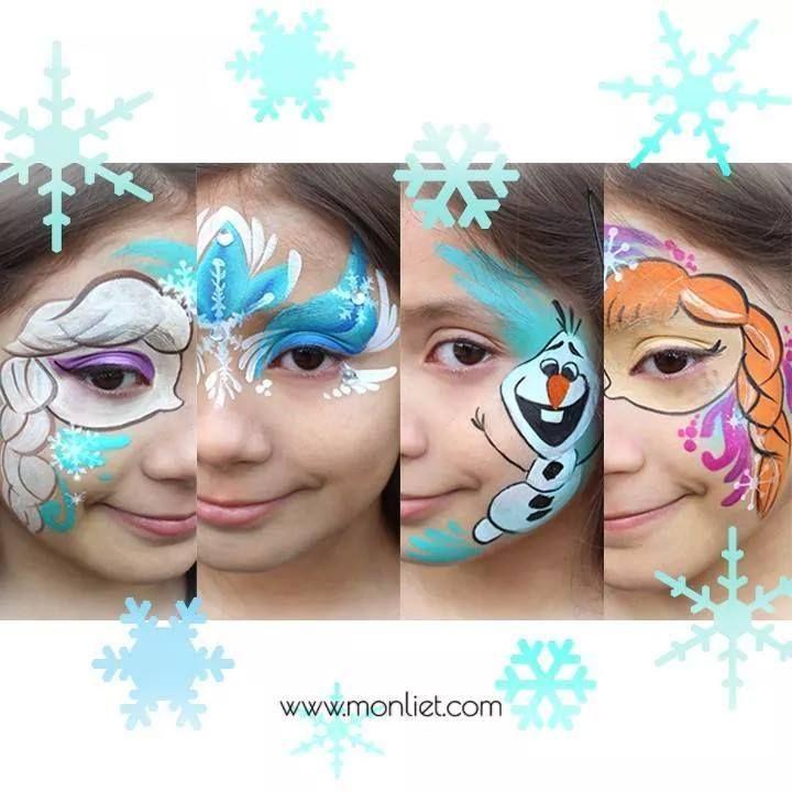 Frozen Designs Anna Elsa Kinder Schminken Kinderschminken