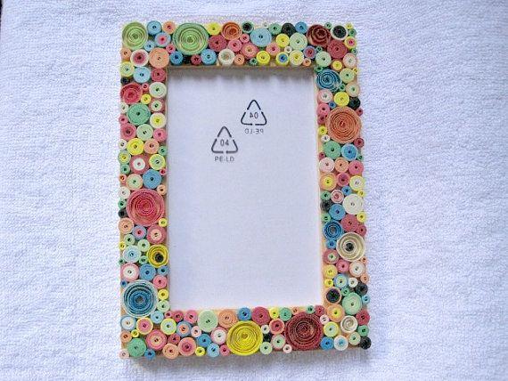 Retro quilling photo frame  idea by vonneshandmadez on etsy also rh pinterest