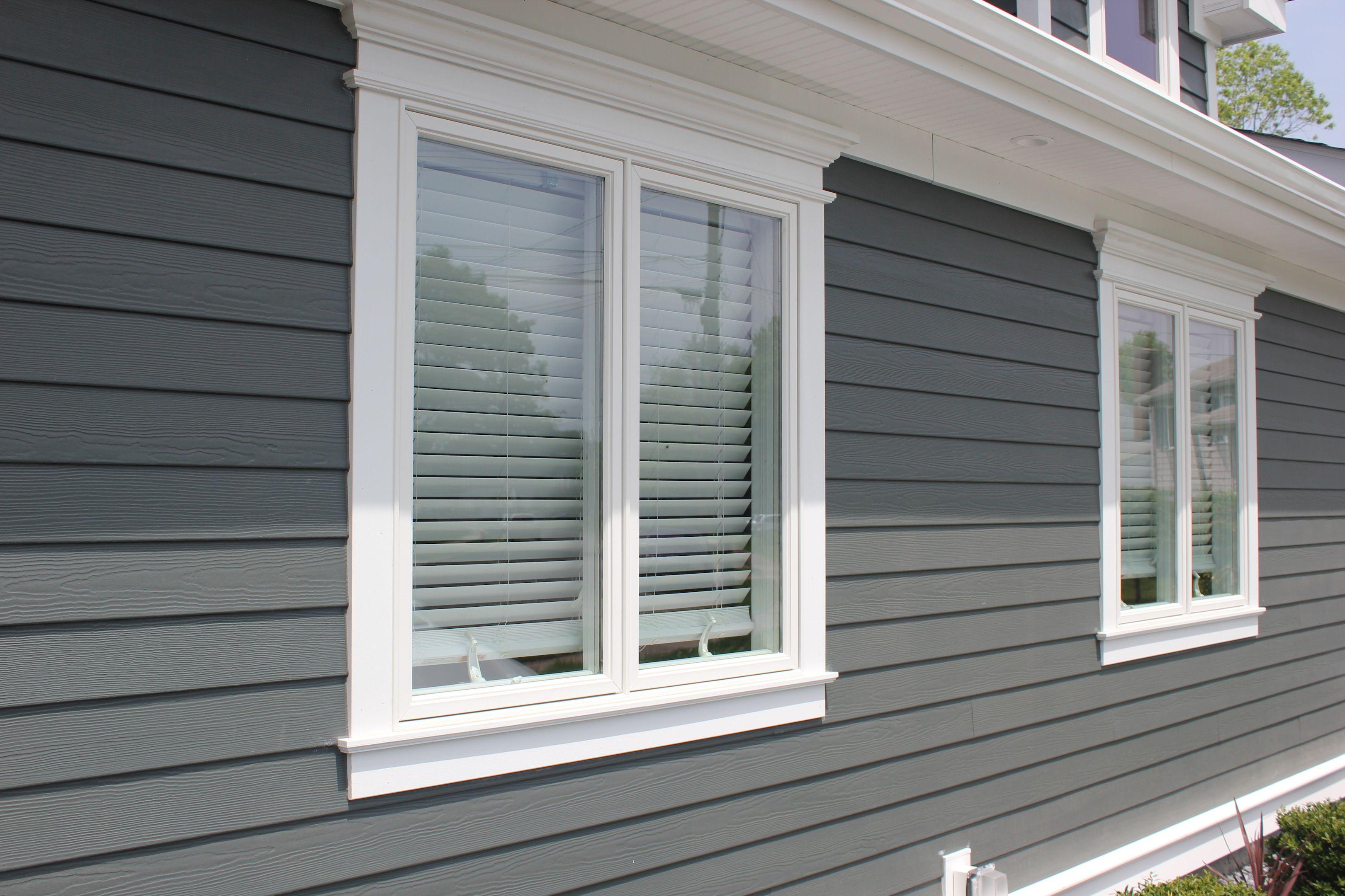 Image Result For Gray Vinyl Siding White Windows Hardie Siding House Exterior Shingle Siding
