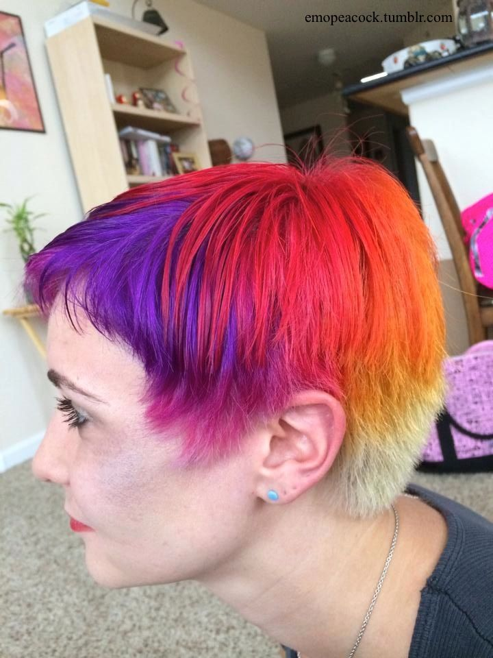 Emopeacock So I Did A Thing On My Friend Today Sunset Hair