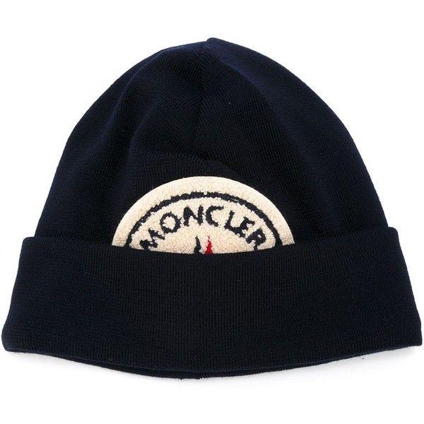 Moncler X Ami Logo Patch Beanie Hat Blue Beanie Hat Beanie Patch Logo