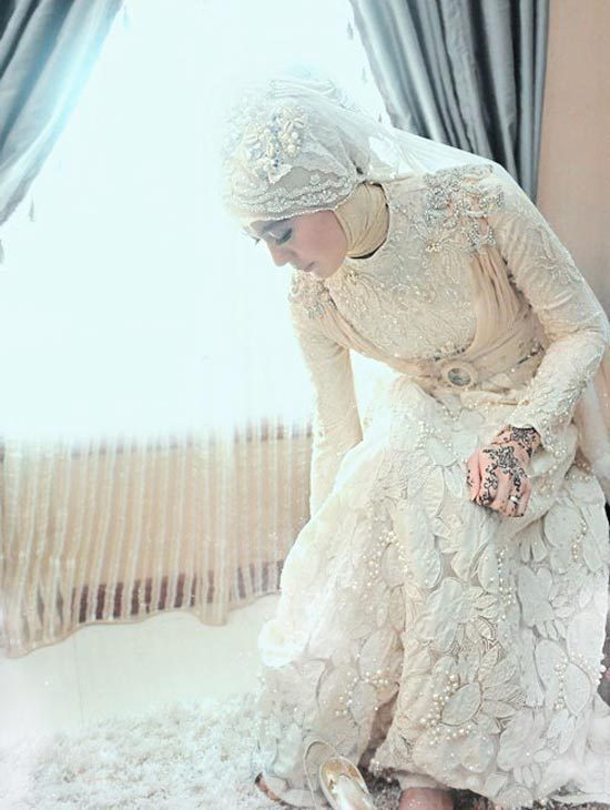 Simple Wedding Dresses Muslim Islamic Woman Dress Wedding Modesty