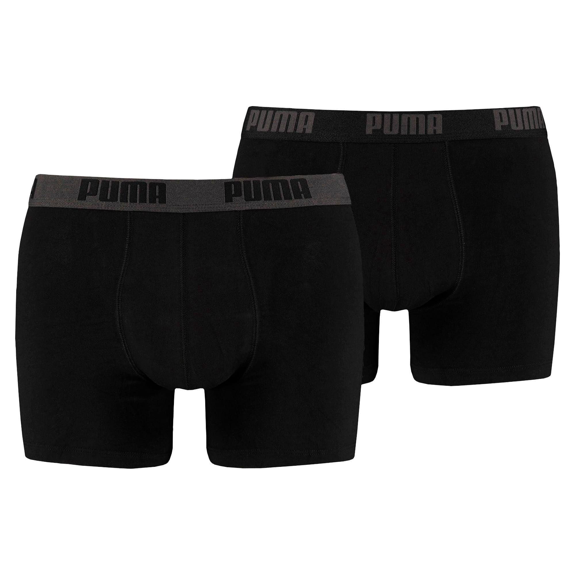 Basic Men's Boxers 2 pack | black / black | PUMA New Arrivals ...