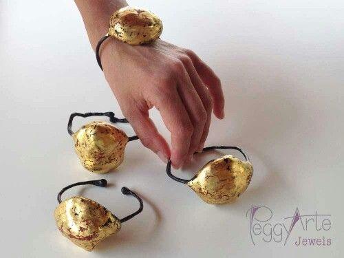 Izar - Bracciali - papier machè - oro a guazzo
