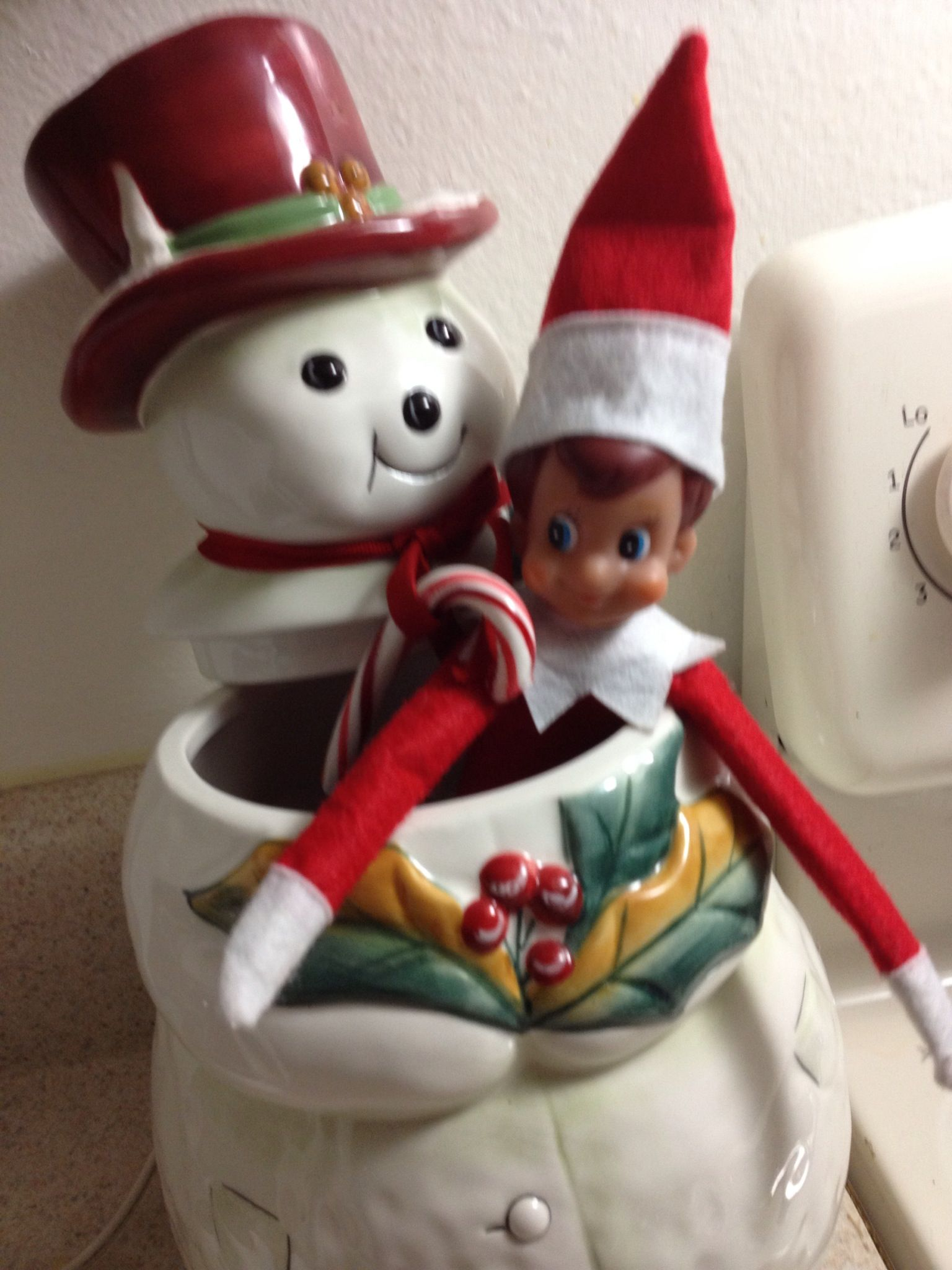 Elf stuck in the cookie jar