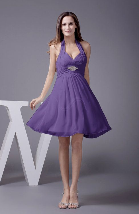 4089494b6606 Dark Purple Elegant Sleeveless Zip up Knee Length Flower Party Dresses