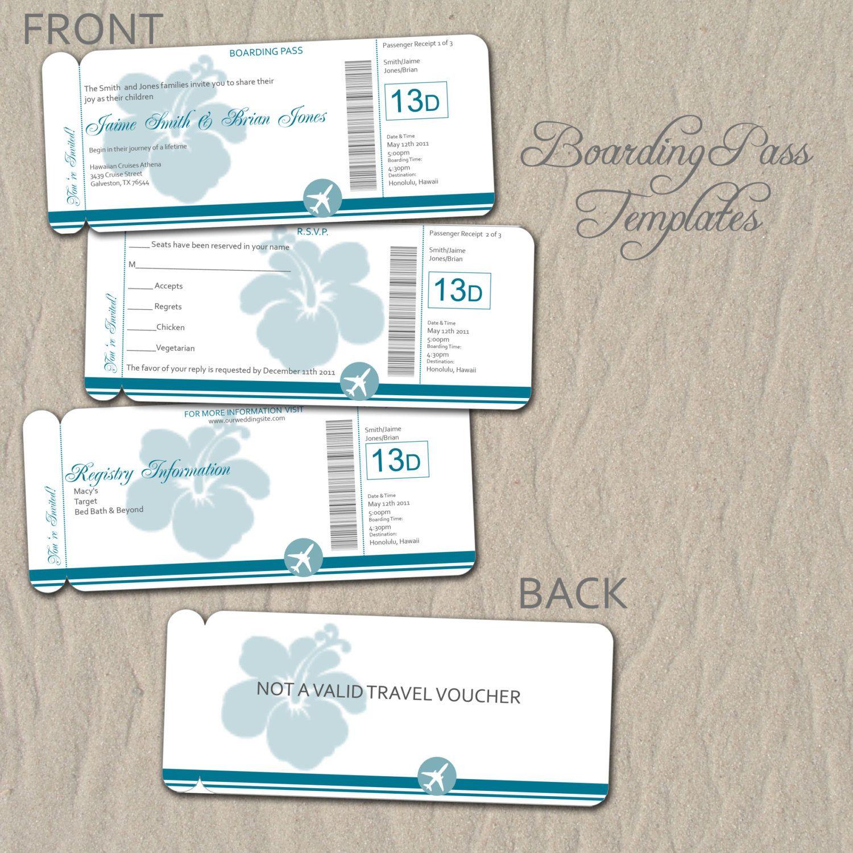 0714 Bordkarte Ziel Hochzeitseinladung oder von rememberwhendesign ...