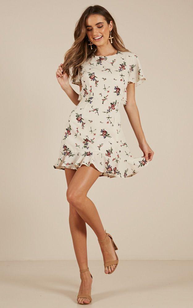 7f108890574f Showpo Inspire Us Dress in Cream Floral - 20 (XXXXL) Casual Dresses