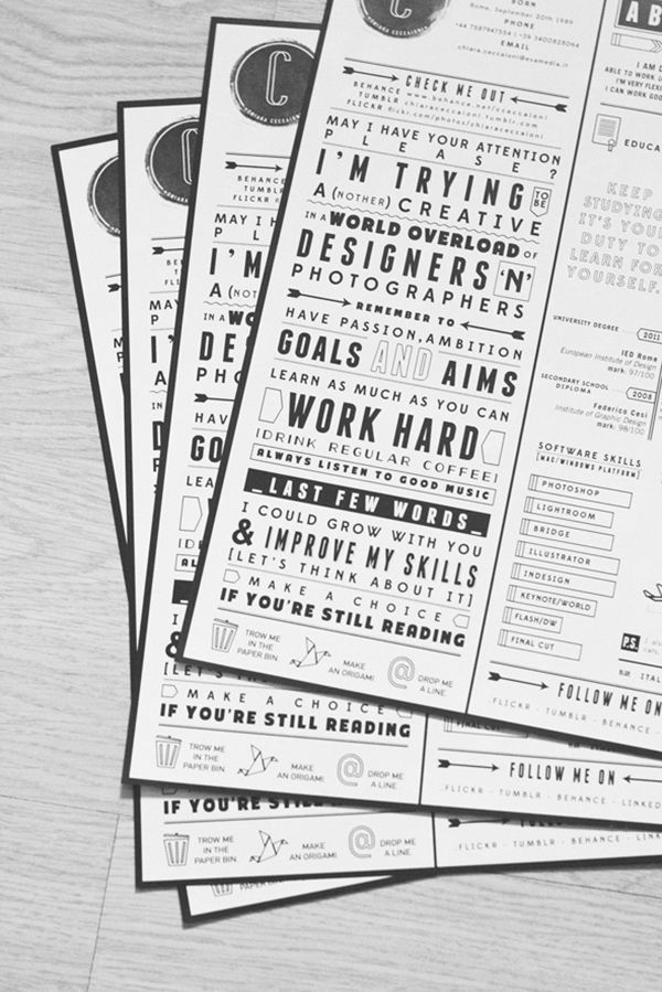 Pinterest - good looking resumes