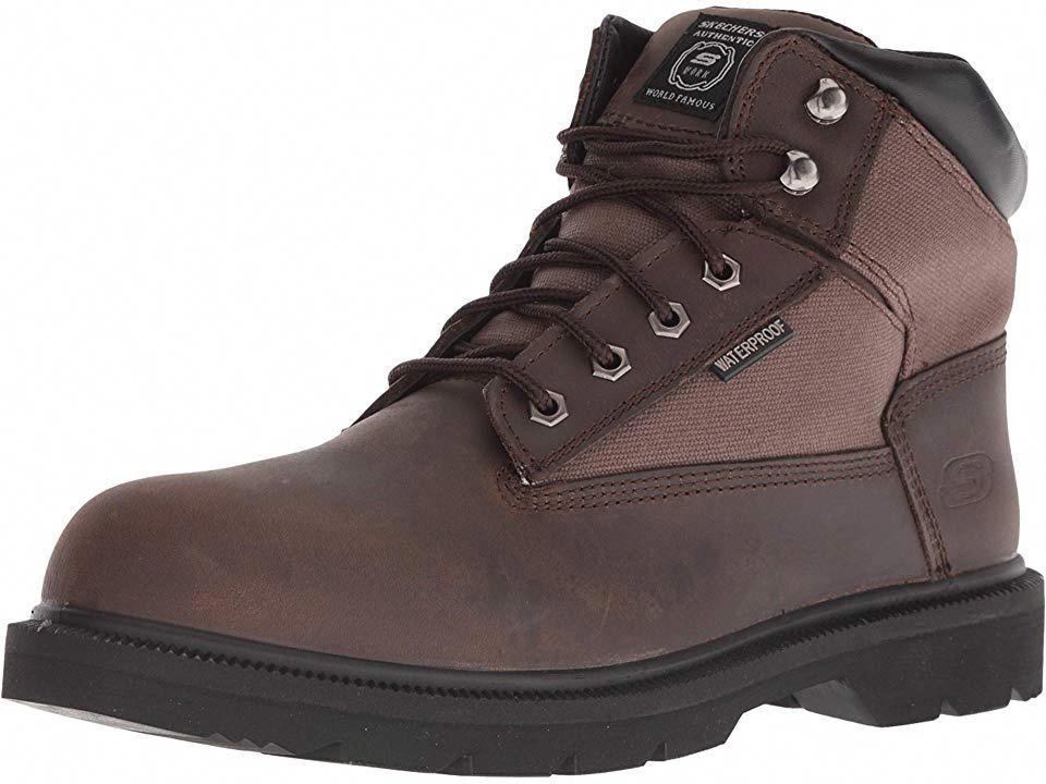 Skechers work makanix bridgend mens work boots brown