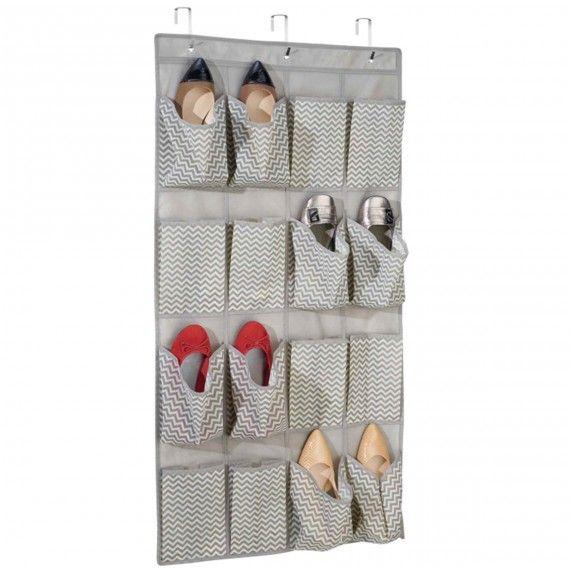 Range Chaussures A Suspendre En Tissu Rangement Chaussures Rangement Organiser Un Placard