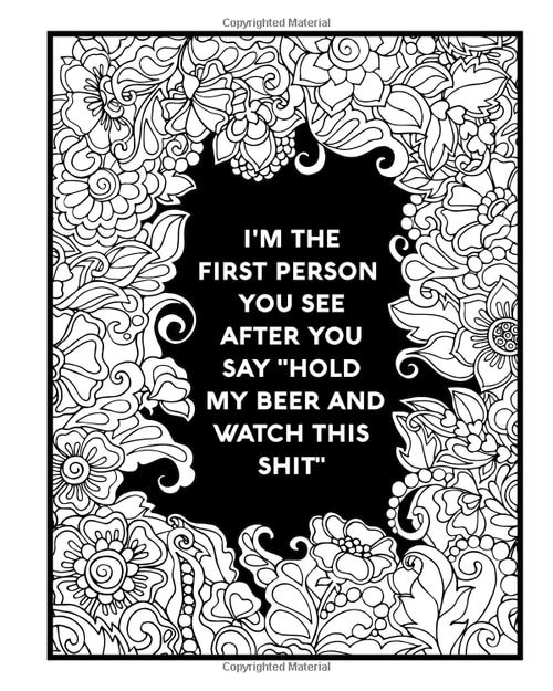 Nurse Coloring Book: Sweary Midnight Edition VL6 | Funny ...