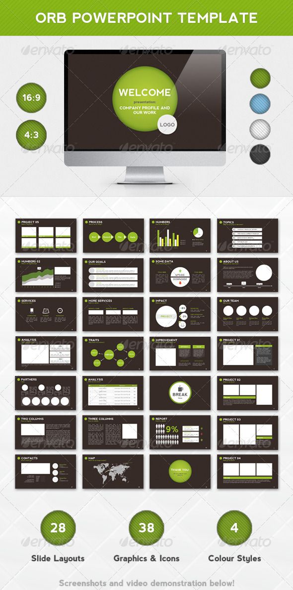 Orb PowerPoint Template Powerpoints Pinterest Presentation