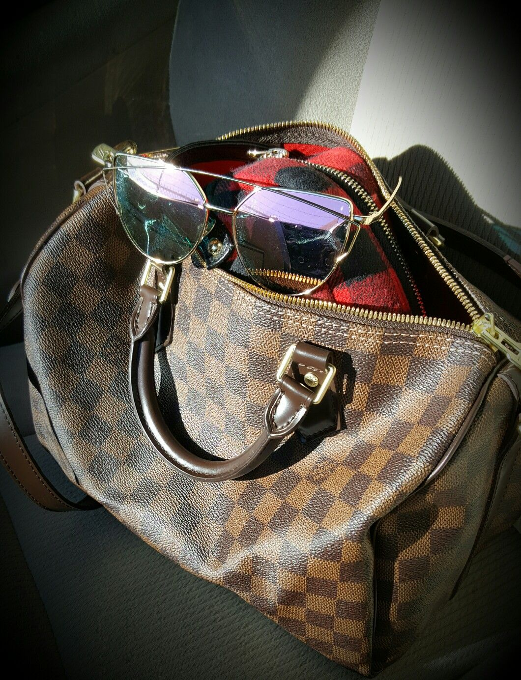 af421ed45cc8 louis vuitton damier ebene speedy 30 bandouliere bought from poshmark