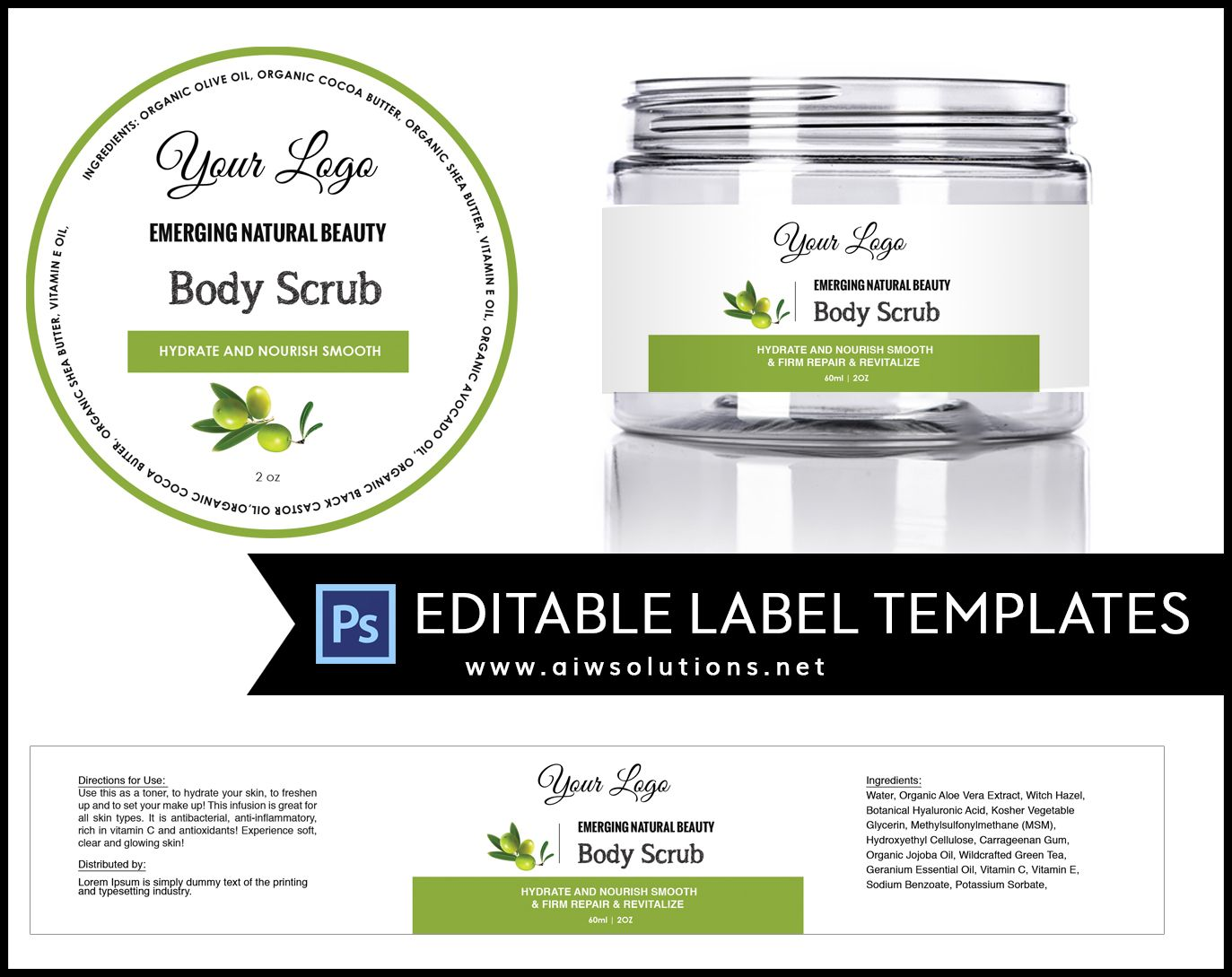 Label template ID16 | Cosmetic labels, Label templates and Template