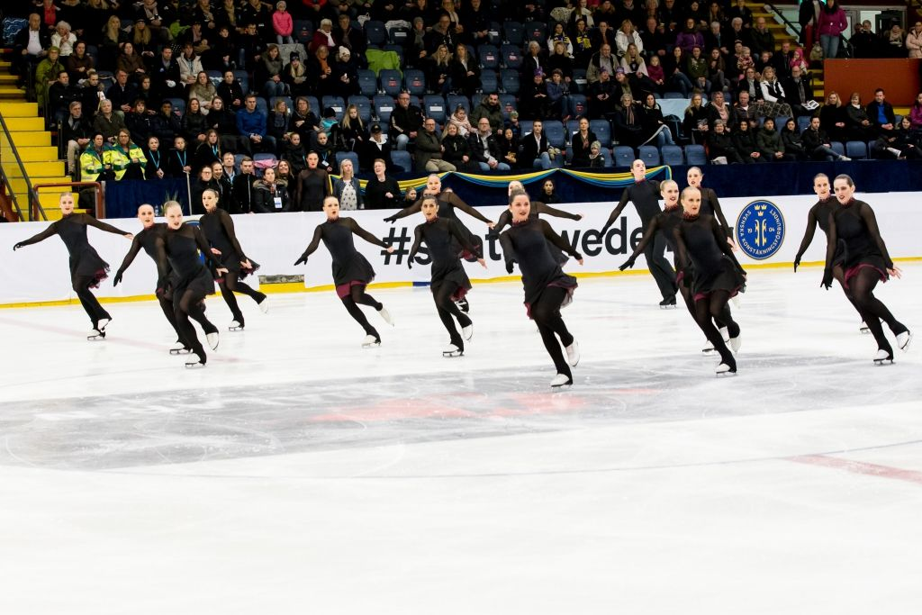 Team Boomerang, Sweden. At Nationals 2017. Synchronized Skating. Photographer: Navaz Sumar. #skatesweden
