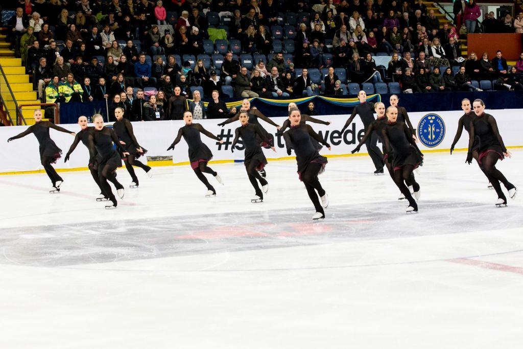 Team Boomerang, Sweden. At Nationals 2017. Synchronized Skating. Photographer: Navaz Sumar. #skatesweden