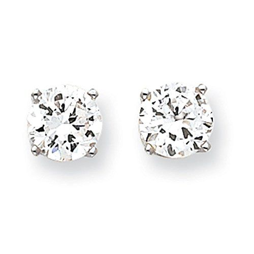 14k White Gold 8mm Cubic Zirconia Stud Earrings Be Sure To Check Out This