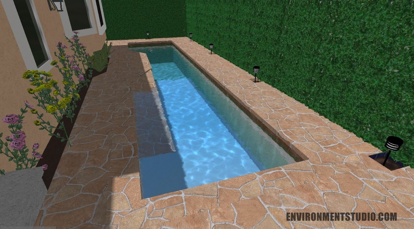 small yards with inground pools | Small Pool In a Small Yard ...
