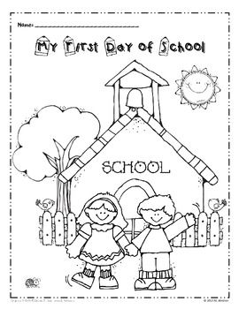 My First Day Of School Coloring Page Freebie School First