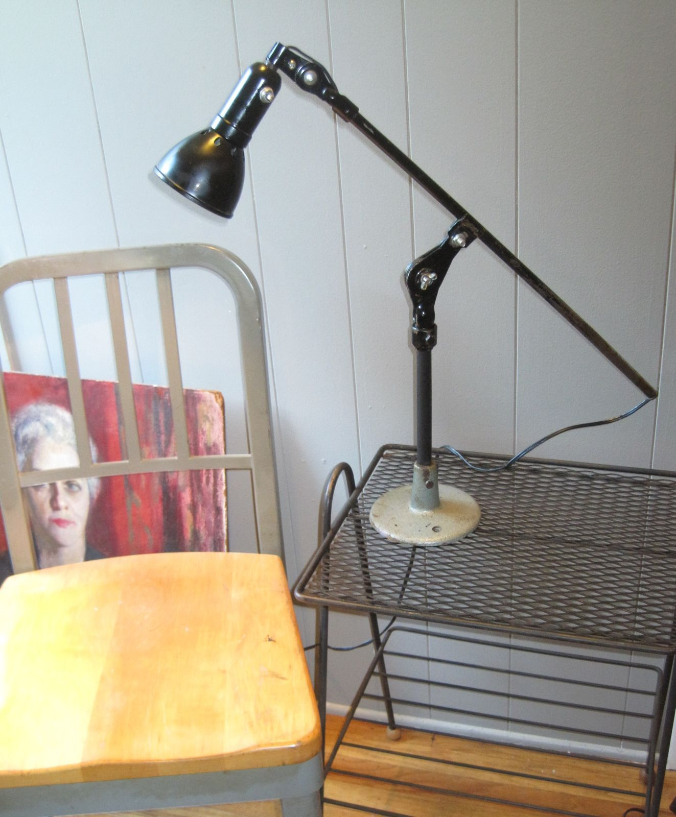 Table l& made with #Vintage #Industrial Sewing Machine Task Light parts  sc 1 st  Pinterest & Table lamp made with #Vintage #Industrial Sewing Machine Task ... azcodes.com