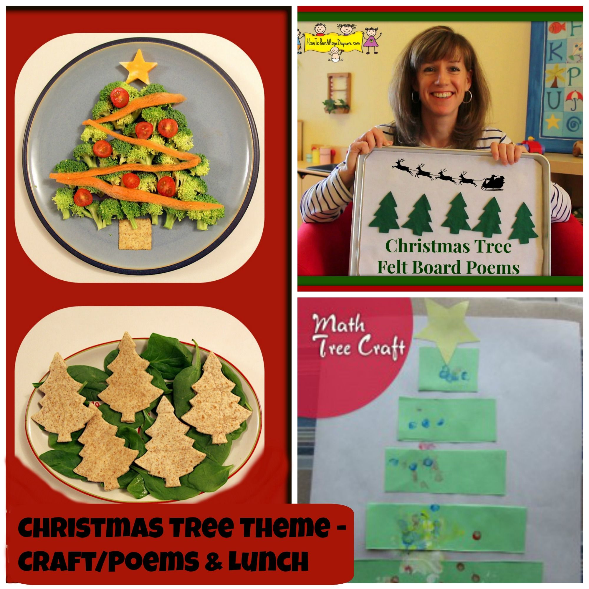 Christmas Tree Theme A Craft, Felt Board Poems and Lunch
