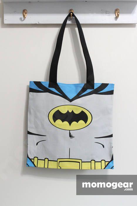 Batman Tote Bag Dark Knight Superhero Vintage Bags Handmade