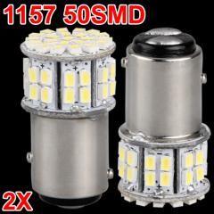Car White 50 SMD LED Tail Brake Light Bulb