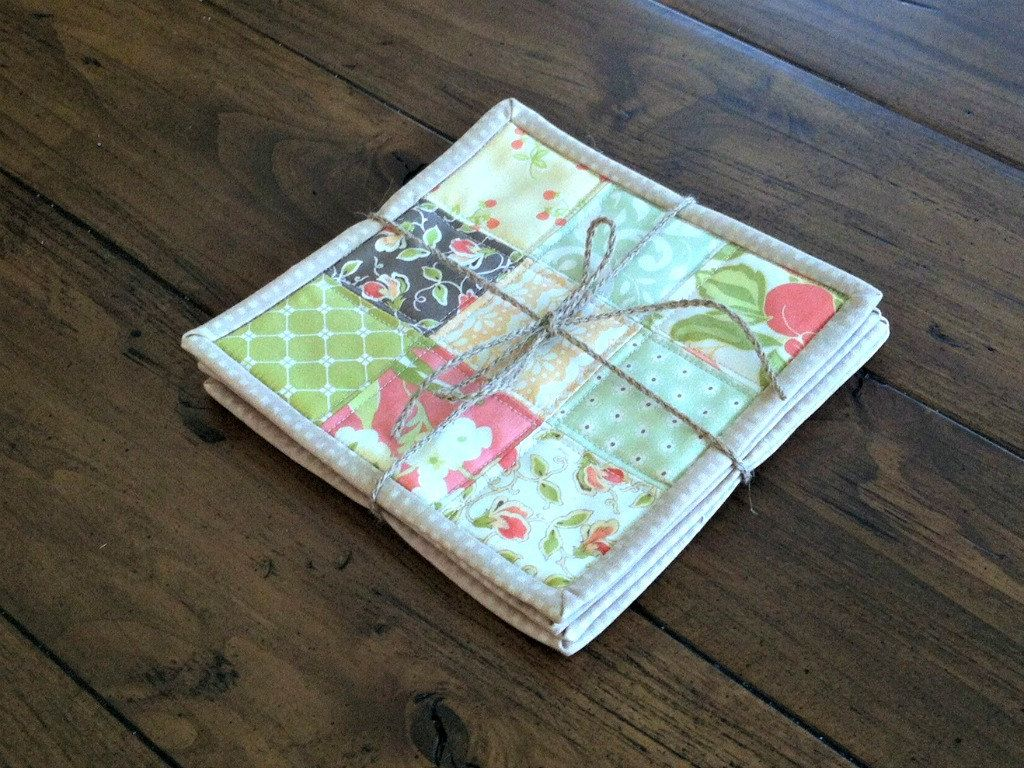 Quilted Coasters Set Of Floral Mug Rug, Candle Mat, Table Mat, Coffee Table  Decor In Farmhouse Chic By DarBieStitches On Etsy