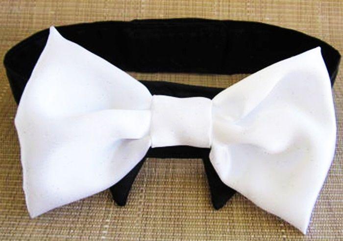 Collar And Bow Tie Wedding Dog Or Cat Custom Made Miascloset Dog Wedding Bow Tie Wedding Bows