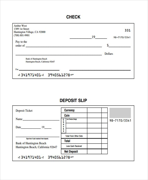 Deposit Slips Template Excel Templates Templates Paper Flower Printable Templates