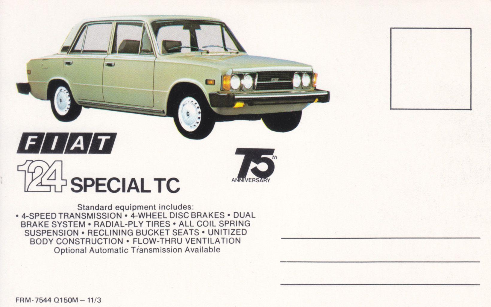 Fiat 124 Special Tc Usa 7544 11 1973 Met Afbeeldingen
