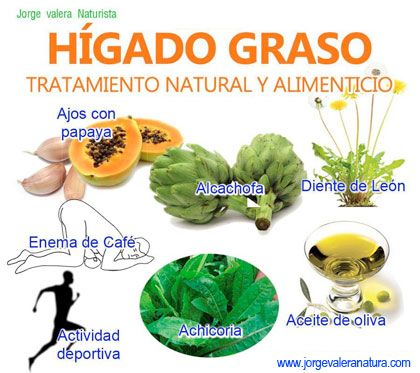 Remedios higado naturales graso