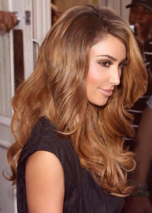 Kim Kardashian Light Brown Hair Color Looking For Hair Extensions