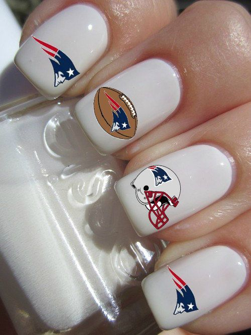 New England Patriots Nail Decals by PineGalaxy on Etsy, ... | Nails ...