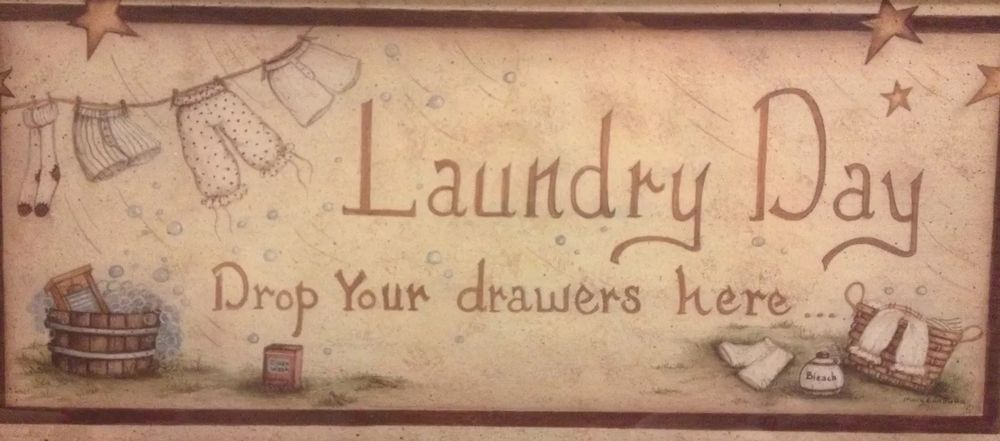 Laundry Day Drop Drawers Wall Wash Room Decor Bloomers ...