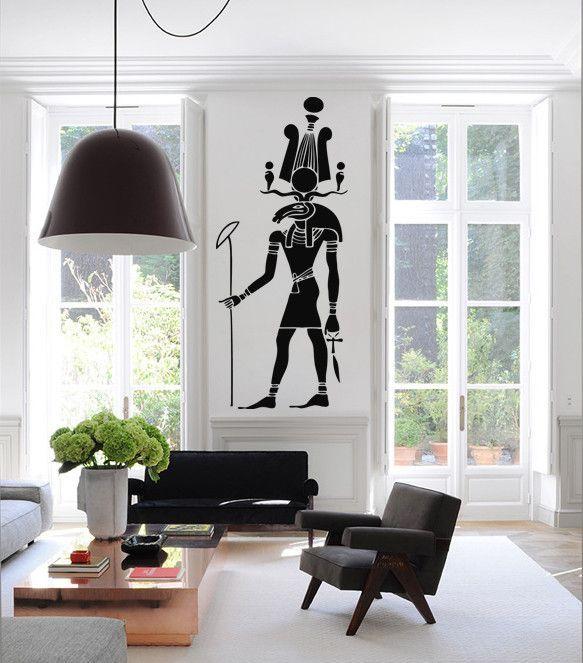 Best Ik1000 Wall Decal Sticker Egyptian G*D Khensu Bedroom 400 x 300