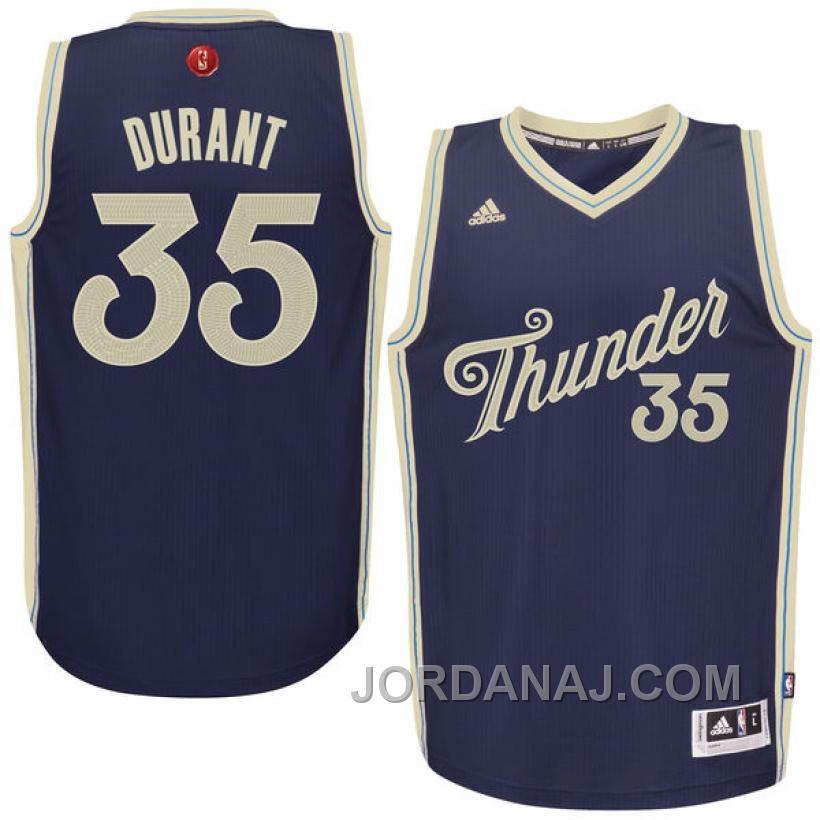 NBA 2015-16 Season Oklahoma City Thunder #35 Kevin Durant Christmas ...