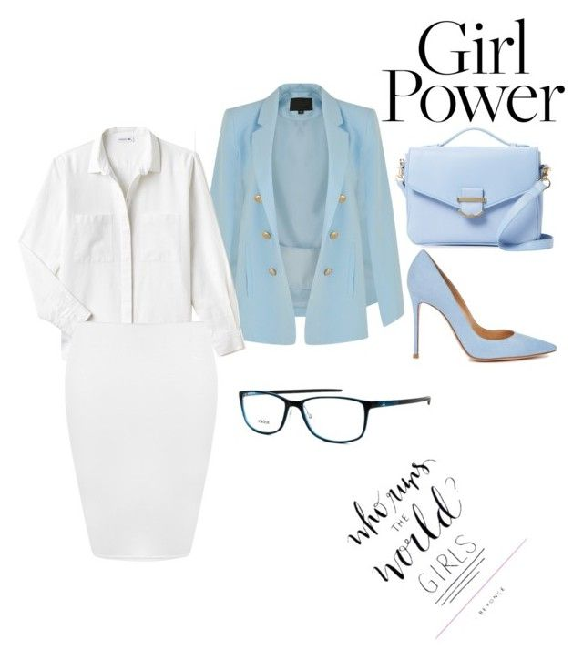 """Woman power ✊🏽💁🏽"" by holderafiya on Polyvore featuring Lacoste, WearAll, Gianvito Rossi, Cynthia Rowley and adidas"