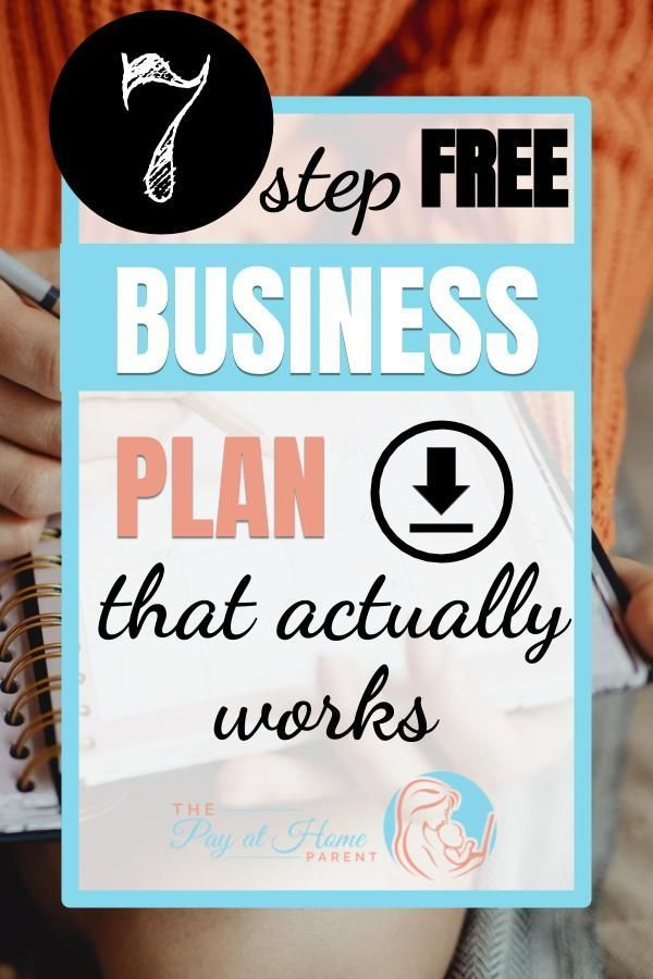 7 Step Free Business Plan Template For Startup Business or ...